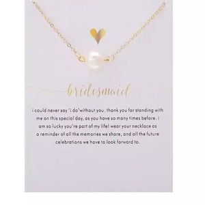 Bridesmaid White Pearl Necklace
